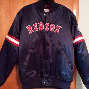 Mitchell Ness Cooperstown Red Sox Satin Jacket M